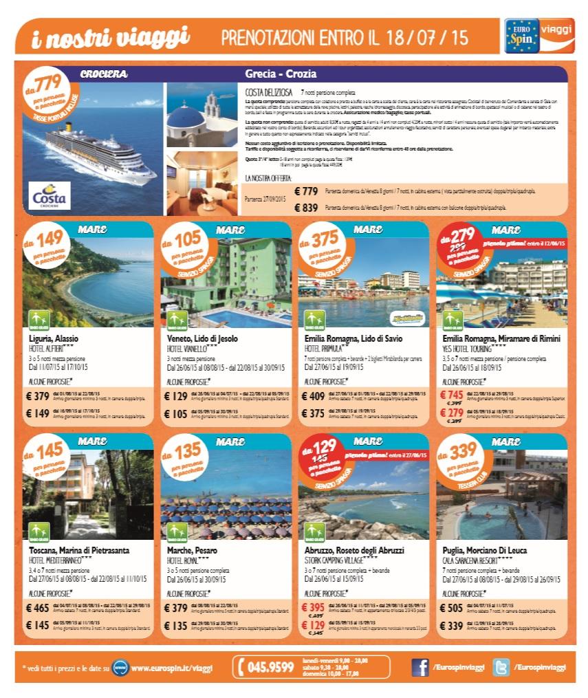 Eurospin viaggi volantino l 39 immagine della bellezza for Offerte eurospin