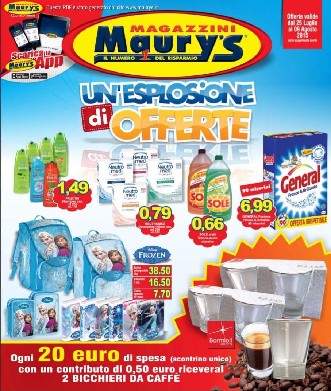 volantino maury 39 s offerte 9 agosto 2015 volantino az