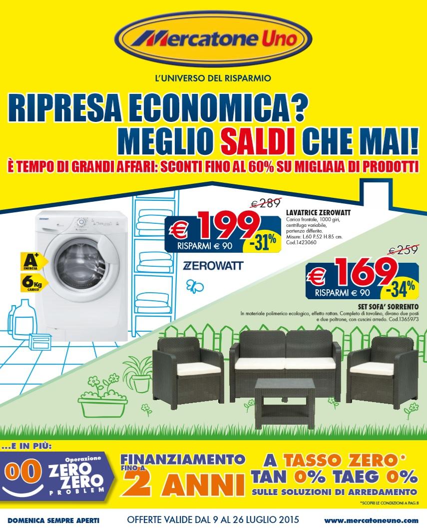 Volantino mercatone uno offerte 9 26 luglio 2015 for Mercatone uno arredamento completo