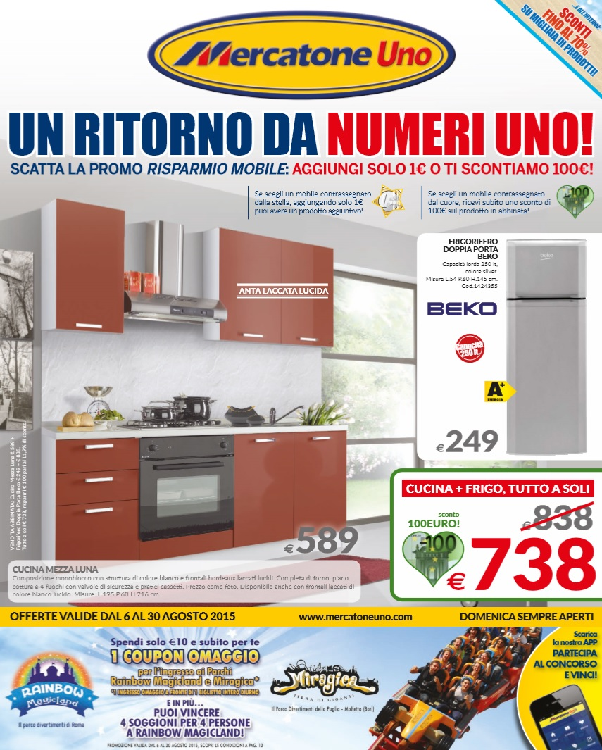 Volantino Mercatone Uno Offerte 6-30 Agosto 2015 - Volantino-AZ