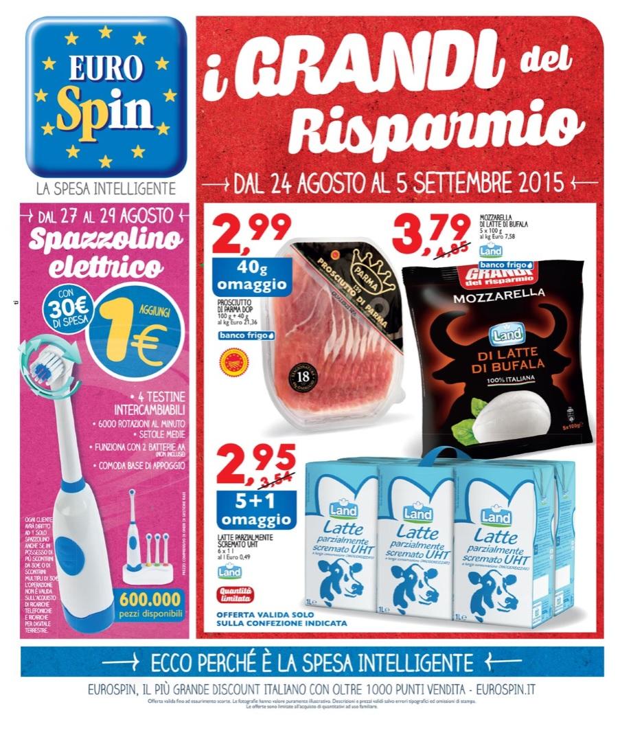Volantino eurospin offerte al 5 settembre 2015 volantino az for Offerte eurospin