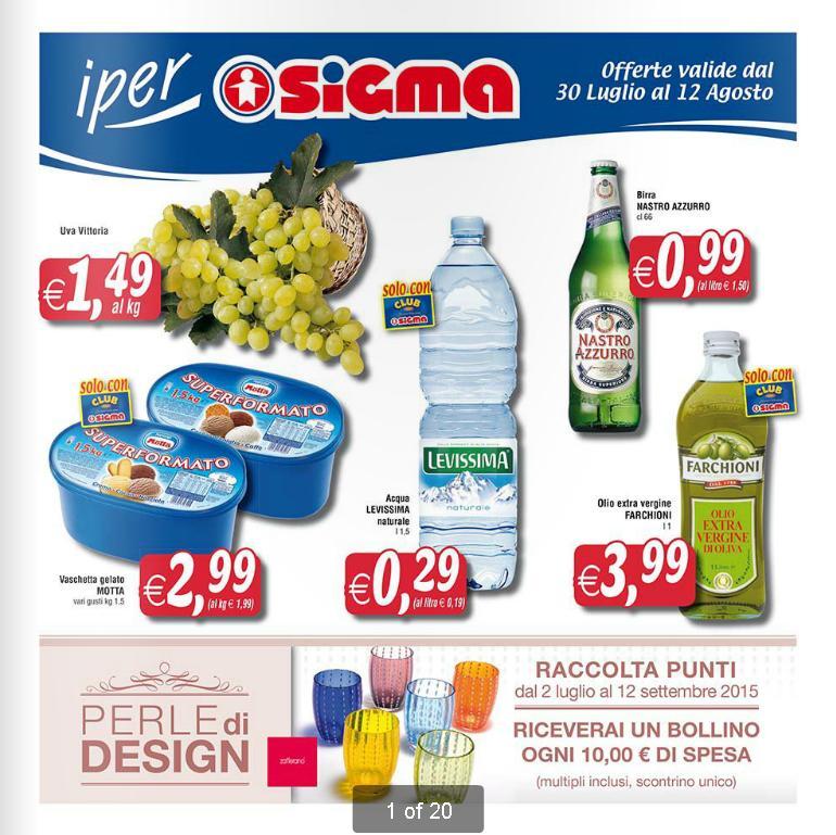 Volantino sigma offerte al 12 agosto 2015 volantino az for Volantino acqua e sapone l aquila