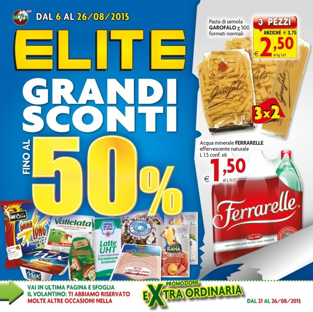 Volantino super elite offerte 6 26 agosto 2015 volantino az for Volantino super conveniente misterbianco