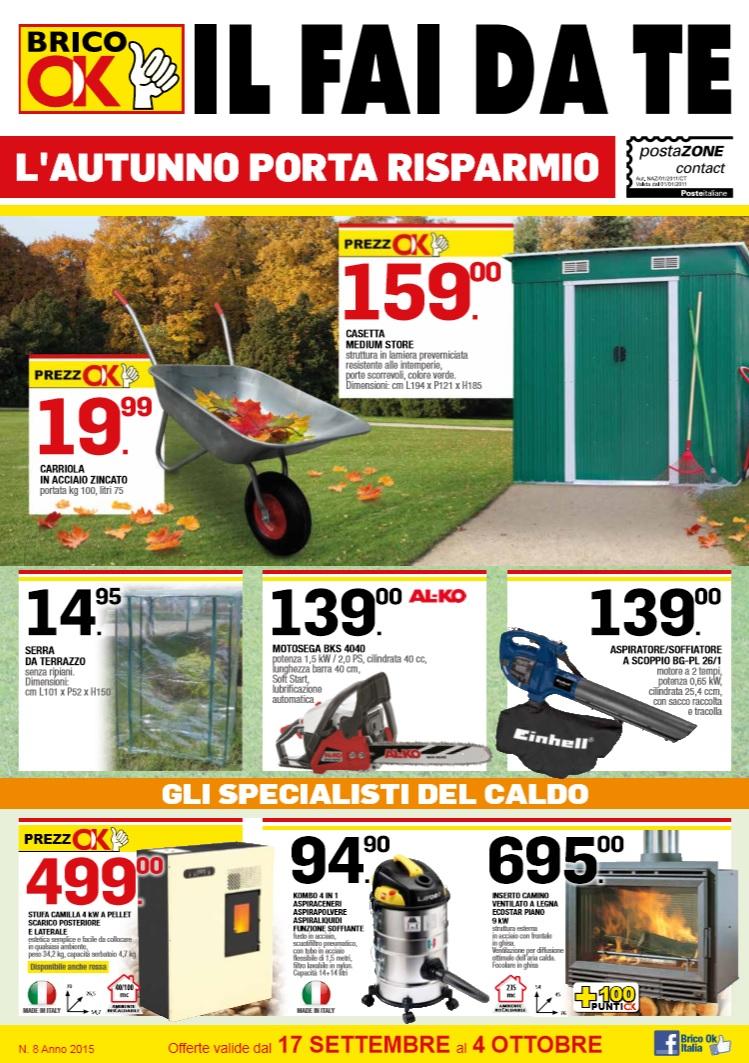 Volantino brico ok 17 settembre 4 ottobre 2015 for Volantino bricocenter