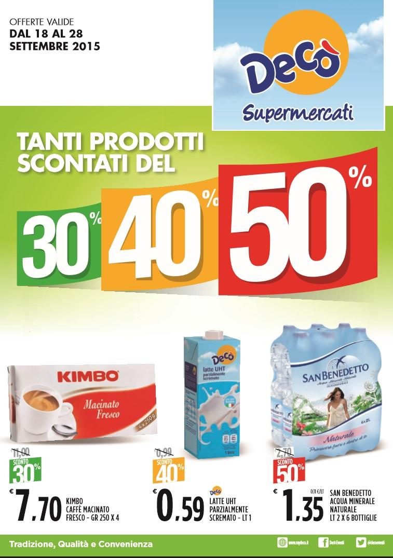 Volantino deco supermercati 18 28 settembre 2015 for Volantino acqua e sapone sicilia