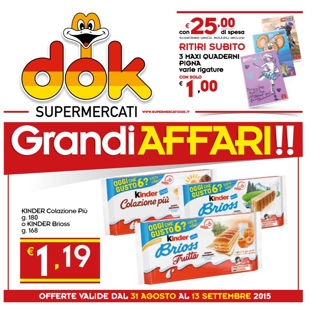 Volantino dok supermercati offerte al 13 settembre 2015 - Volantino ricci casa ...