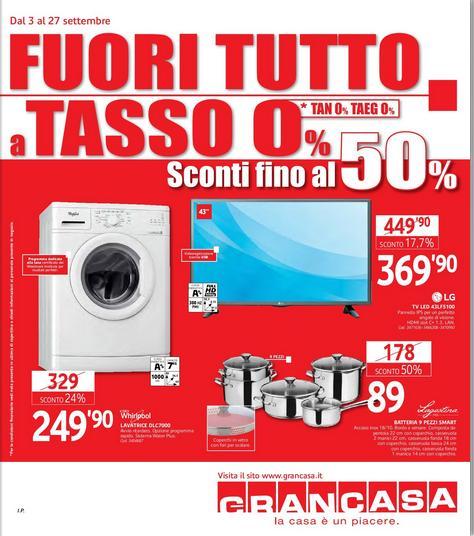 Volantino grancasa offerte 3 27 settembre 2015 volantino az - Grancasa spello offerte ...