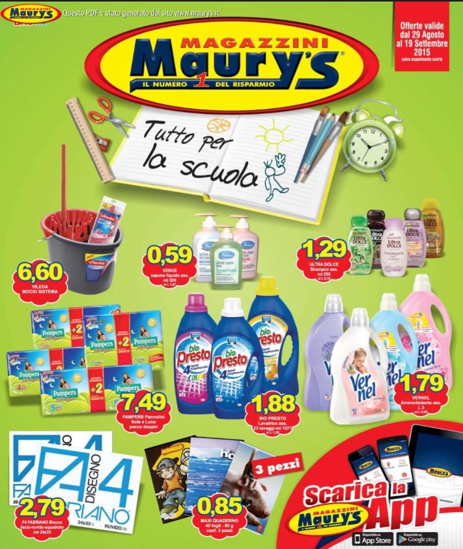 volantino maury s offerte al 19 settembre 2015 volantino az