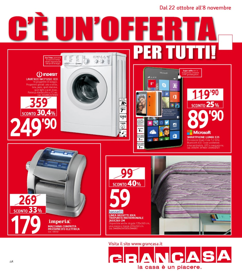 Volantino grancasa al 8 novembre 2015 volantino az - Grancasa spello offerte ...