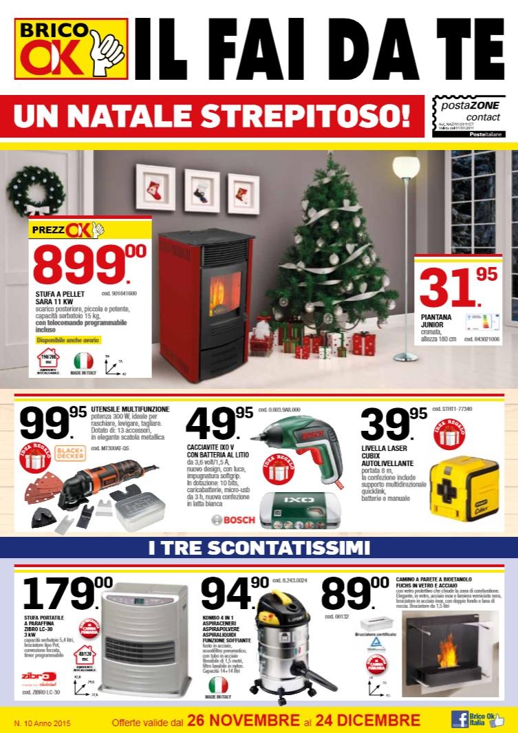 Volantino brico ok al 24 dicembre 2015 volantino az for Seghetto alternativo lidl
