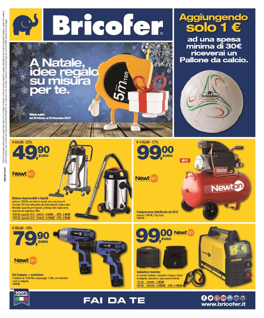 Volantino bricofer speciale natale 20 dicembre 2015 for Catalogo bricofer