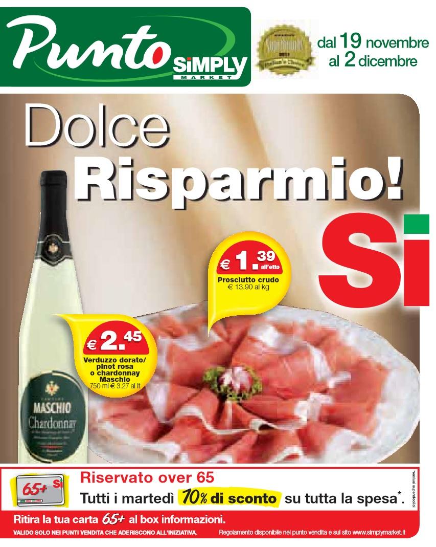 Volantino punto simply market al 2 dicembre 2015 for Punto casa volantino