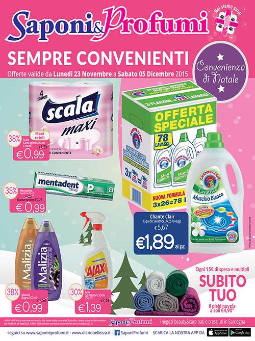 Volantino Saponi e profumi al 5 Dicembre 2015 Volantino AZ