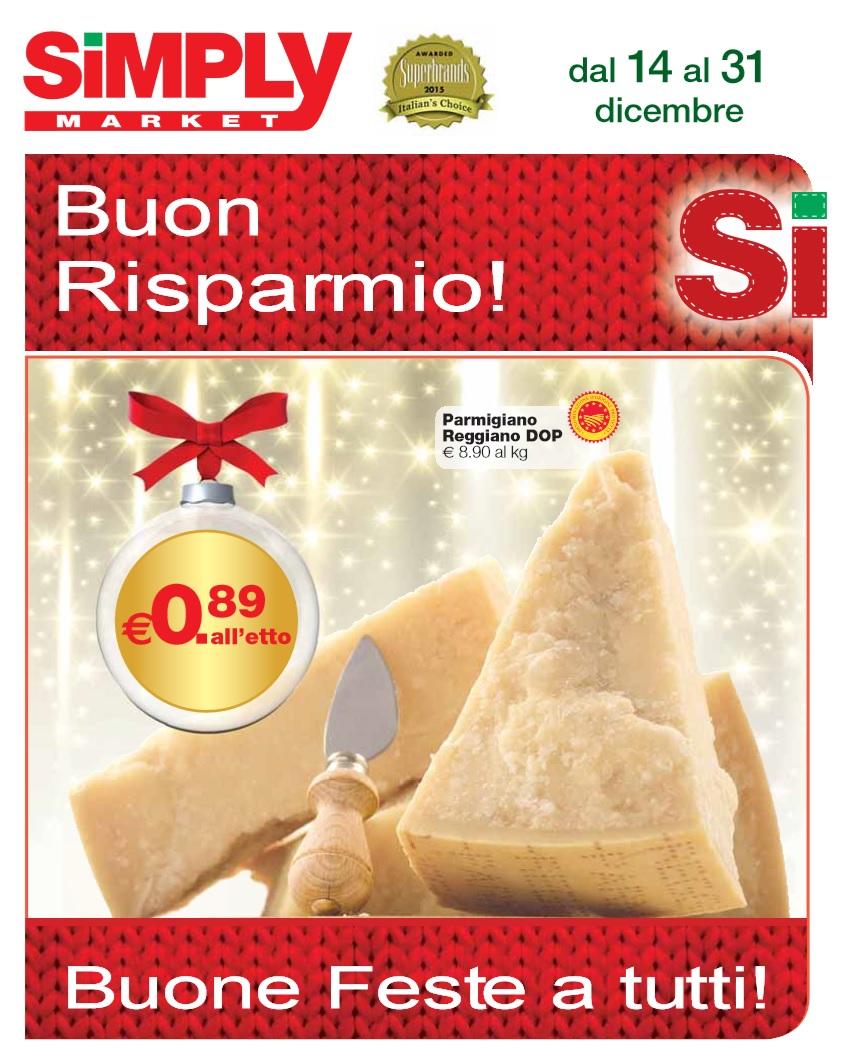 Volantino simply market al 1 gennaio 2016 volantino az for Volantino offerte despar messina