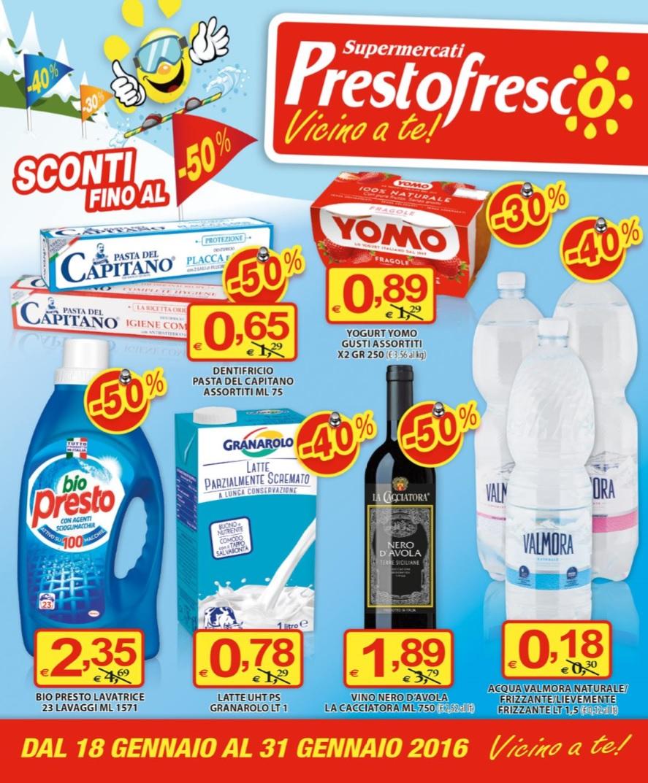 Volantino prestofresco al 31 gennaio 2016 volantino az for Volantino acqua e sapone sicilia