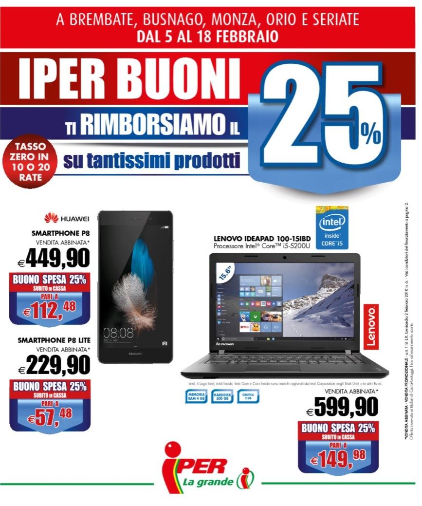 86a846356d Volantino Iper offerte valide al 18 Febbraio 2016 - Volantino-AZ