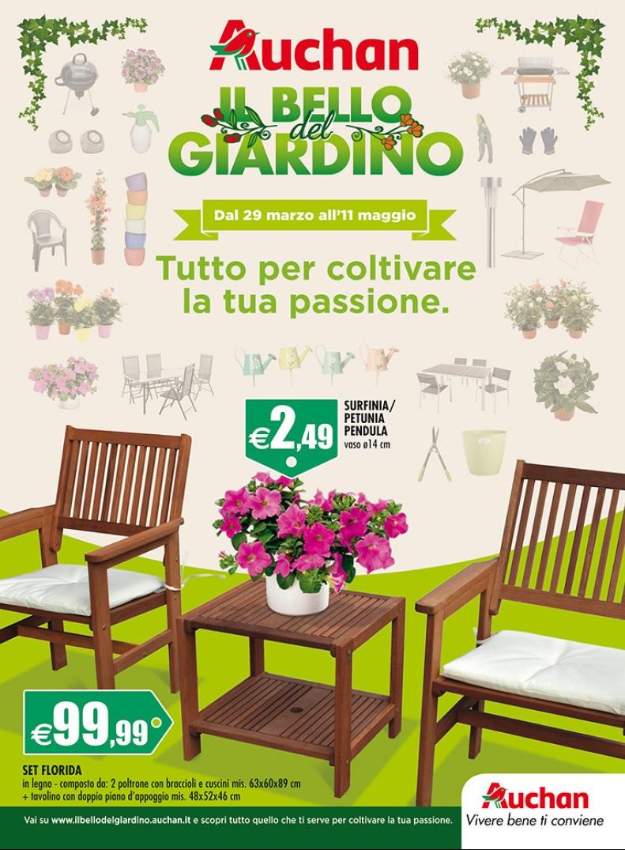 Volantino auchan giardino 29 marzo 6 maggio 2016 for Offerte giardino