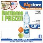 Big store Ipermercati al 17 Aprile 2016