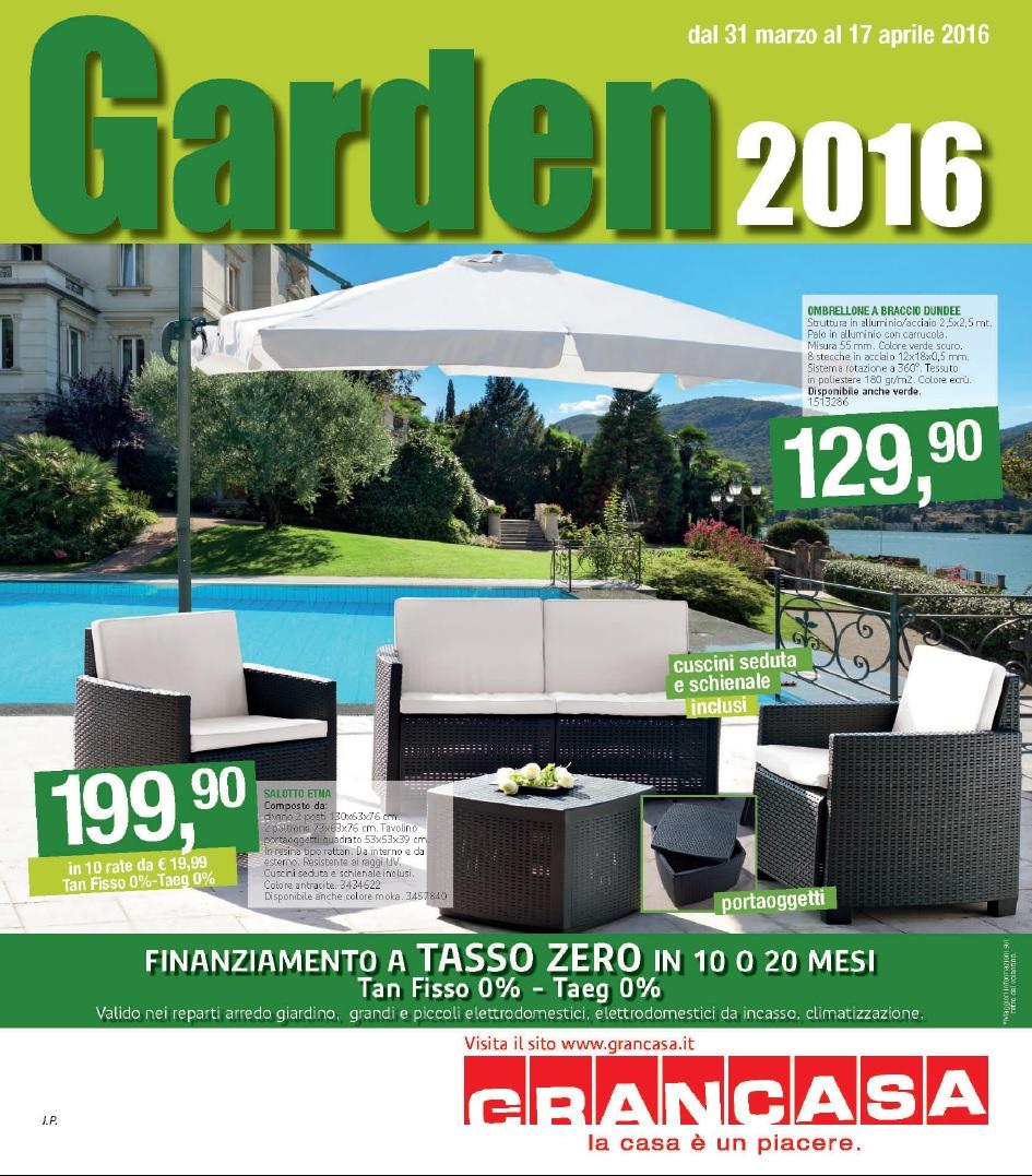 Volantino Grancasa Garden al 17 Aprile 2016 - Volantino-AZ