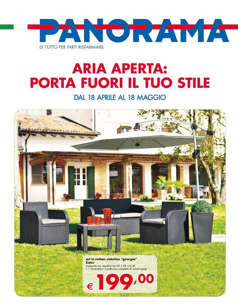 Volantino pam panorama arredo giardino maggio 2016 for Arredo giardino rattan offerte