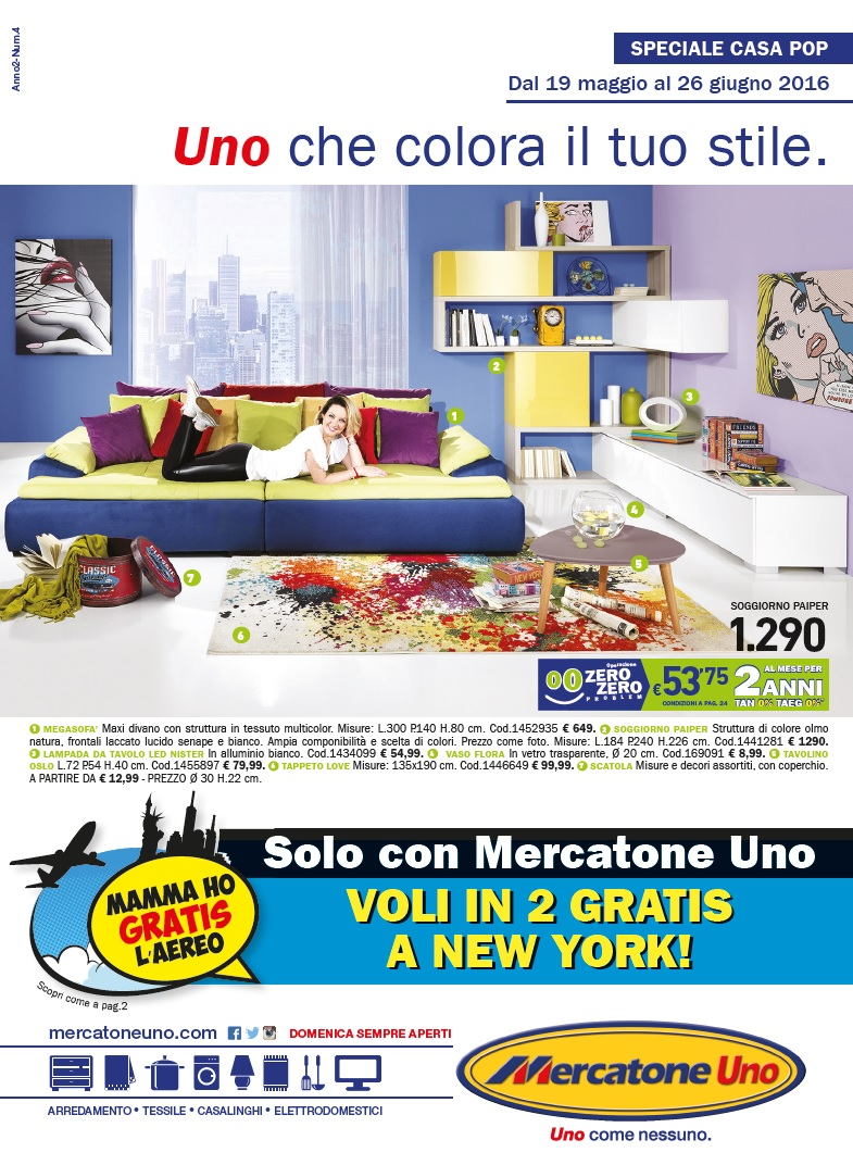 Catalogo mercatone uno casa 19 maggio 26 giugno 2016 for Mercatone uno catalogo