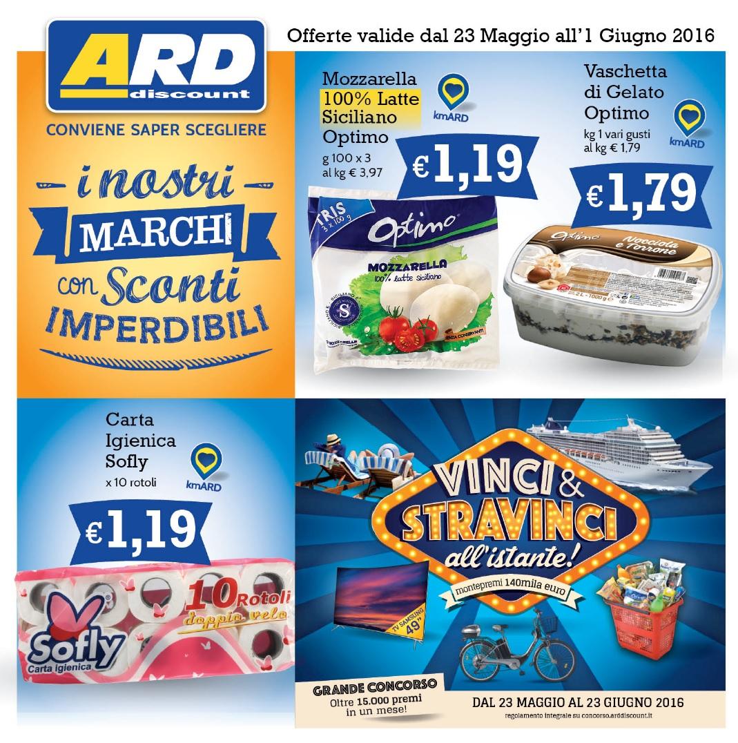 Volantino ard discount 23 maggio 1 giugno 2016 for Volantino ard discount milazzo