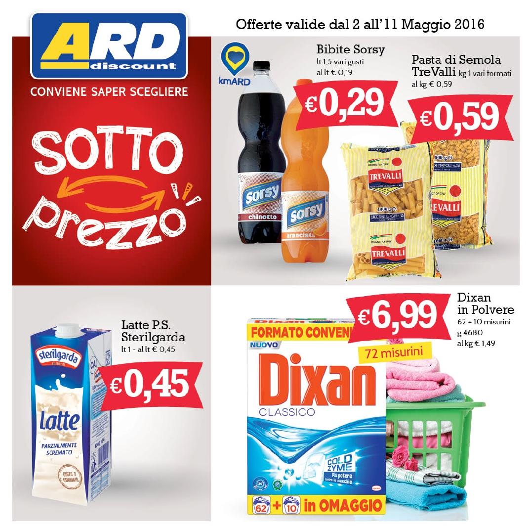 Volantino ard discount al 11 maggio 2016 volantino az for Volantino ard discount milazzo