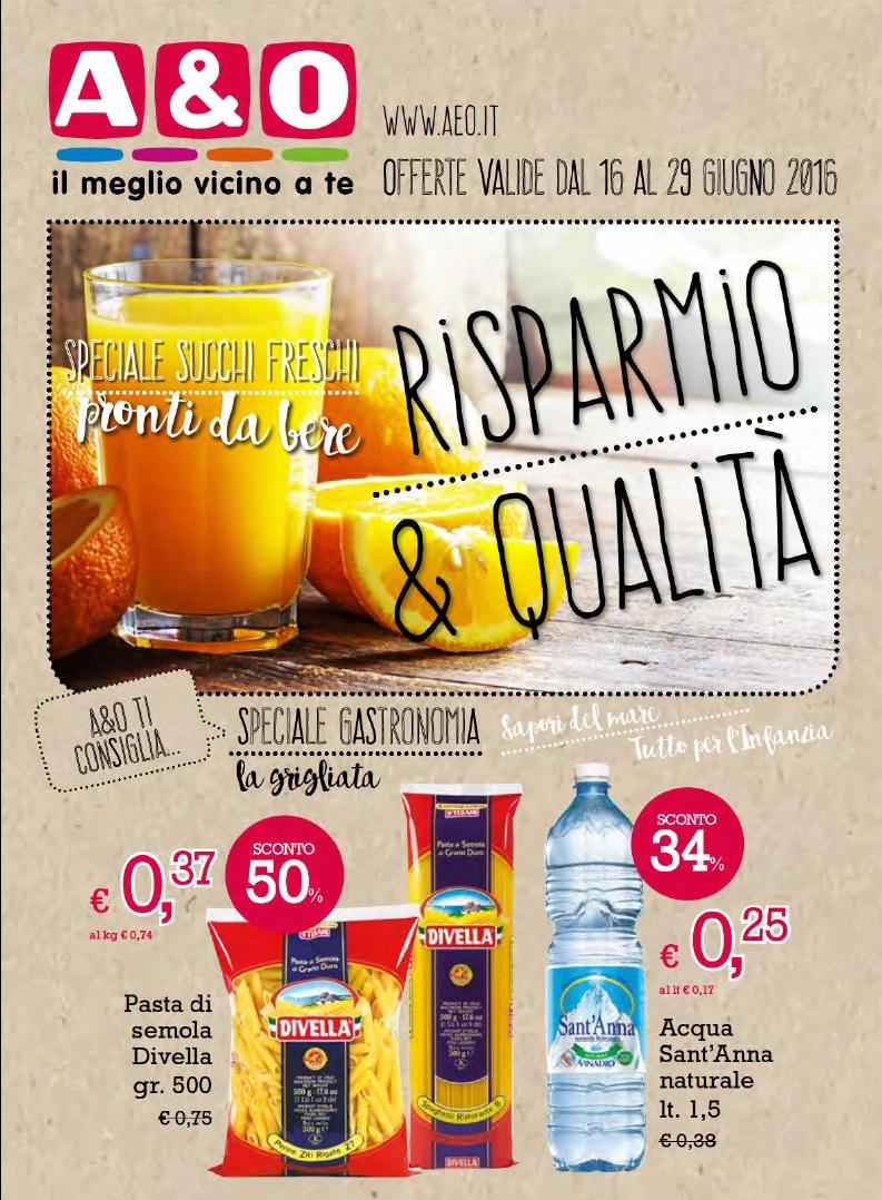 Volantino a o supermercati al 29 giugno 2016 volantino az for Volantino acqua e sapone sicilia