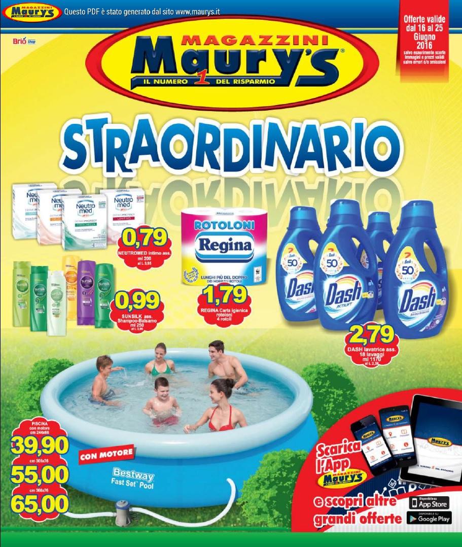 Volantino maury s 16 25 giugno 2016 volantino az for Volantino acqua e sapone l aquila