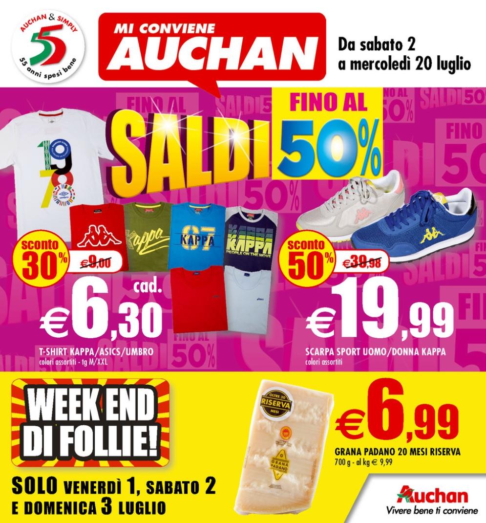 new arrival a5fe5 48d79 Volantino Auchan Saldi Estivi al 20 Luglio 2016 - Volantino-AZ