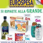 Eurospesa 24 Agosto – 5 Settembre 2016