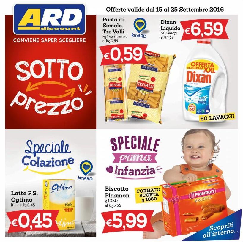 Volantino ard discount 15 25 settembre 2016 volantino az for Volantino ard discount milazzo