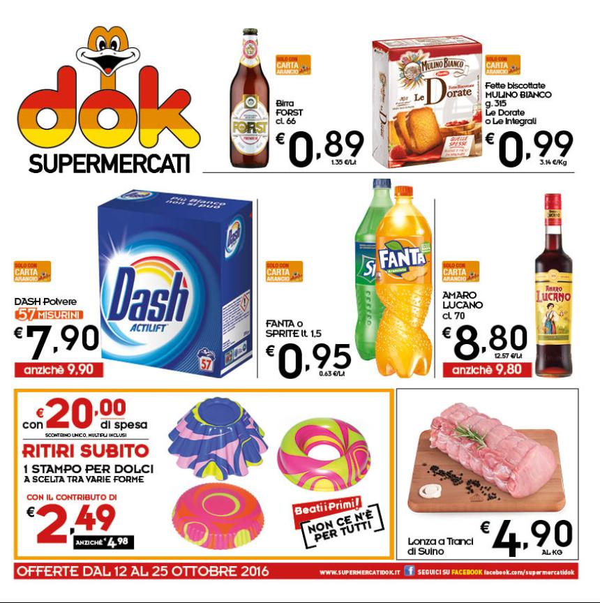 Volantino dok supermercati 12 25 ottobre 2016 volantino az for Volantino acqua e sapone sicilia