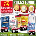 Spaccio Alimentare 25 Ottobre – 3 Novembre 2016