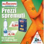 Maxisconto 23 Gennaio – 5 Febbraio 2017
