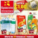Spaccio Alimentare 24 Gennaio – 2 Febbraio 2017