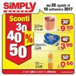Simply Market 28 Agosto – 10 Settembre 2017