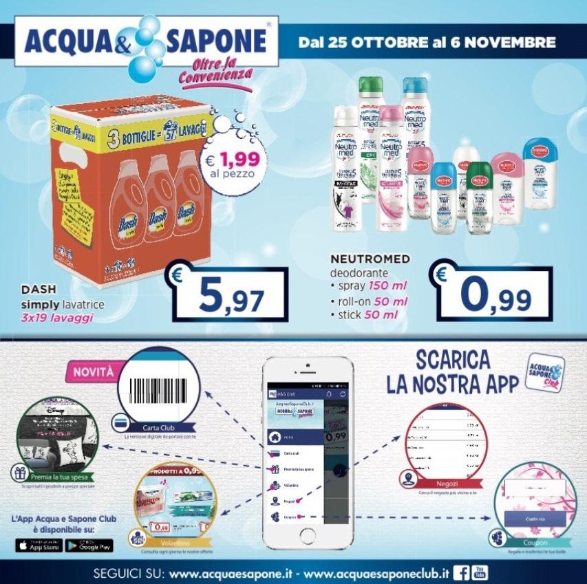 Volantino acqua sapone al 6 novembre 2017 volantino az for Volantino acqua e sapone novembre 2017