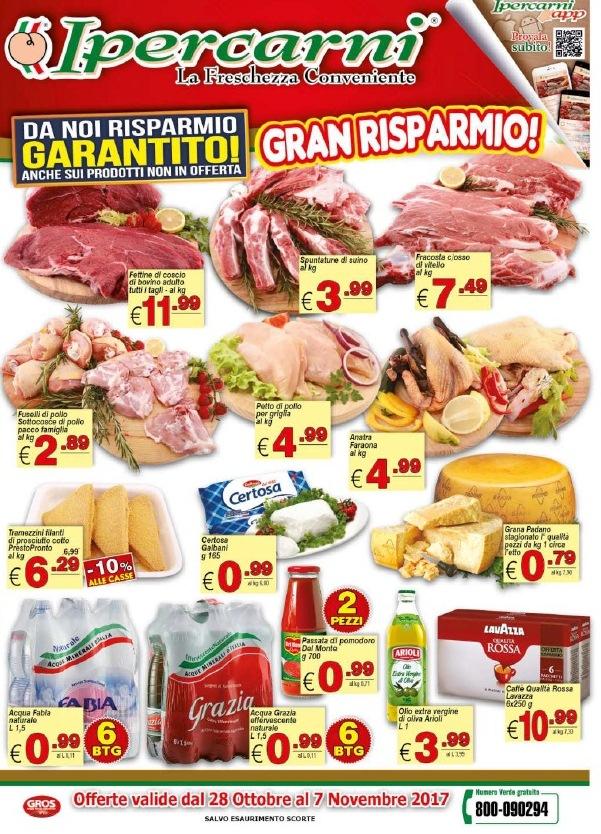 Volantino ipercarni al 7 novembre 2017 volantino az for Volantino acqua e sapone novembre 2017