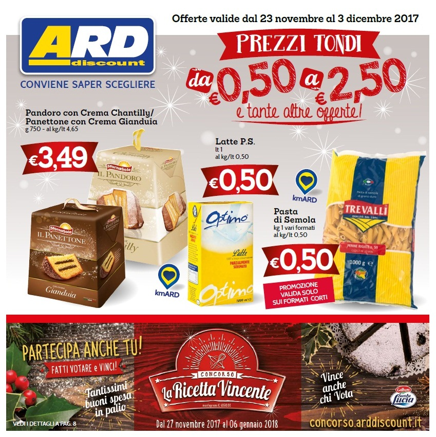 Volantino ard discount al 3 dicembre 2017 volantino az for Ard volantino messina