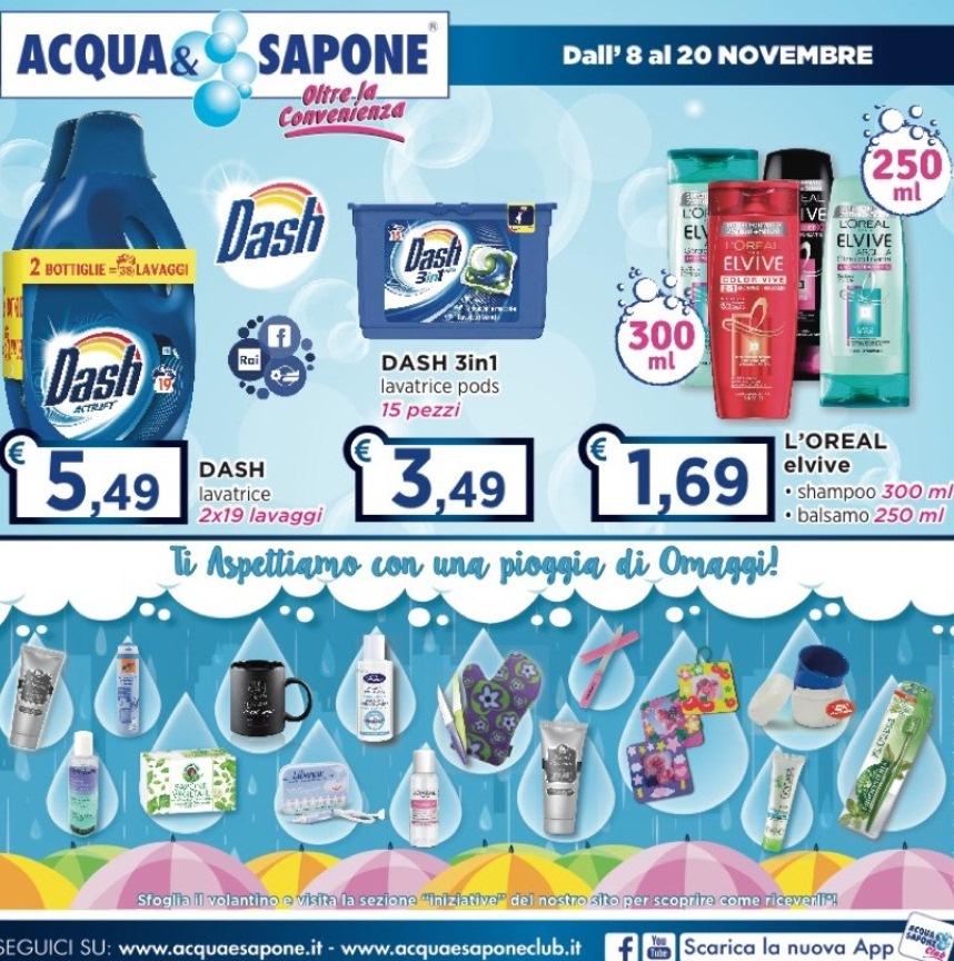 Volantino acqua sapone al 20 novembre 2017 volantino az for Volantino acqua e sapone novembre 2017