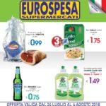 Eurospesa 24 Luglio – 4 Agosto 2018