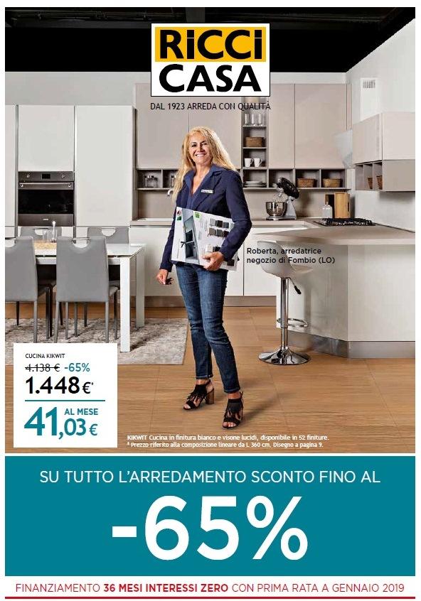 Volantino ricci casa sconti 2018 volantino az for Sconti arredamento casa