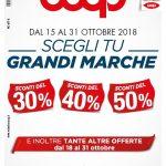 Coop Scegli Tu Grandi Marche 15-31 Ottobre 2018