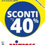 Migross Supestore Sconti 40% 21 Febbraio – 06 Marzo 2019