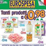 Eurospesa Tanti prodotti al 9 Marzo 2019