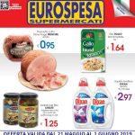Eurospesa 21 Maggio – 01 Giugno 2019