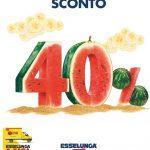 Esselunga SCONTO 40% 25 Luglio – 7 Agosto 2019