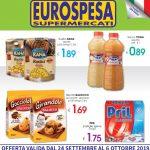 Eurospesa 24 Settembre – 6 Ottobre 2019