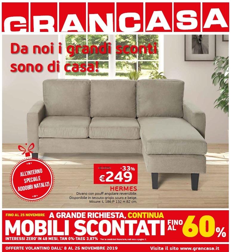 Grancasa mobili scontati fino al 60 8 25 novembre 2019 for Mobili scontati